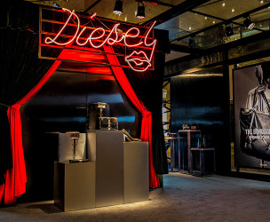 DIESEL Erotica Campaign Permanent store & Pop Up store